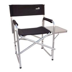 Heavy Duty Short Directors Chair Folding with Side Table Str