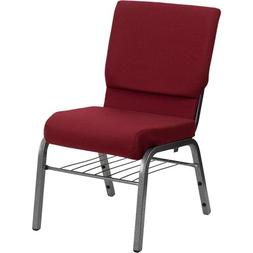 HERCULES 18.5'' Wide Burgundy Church Chair with 4.25'' Thick