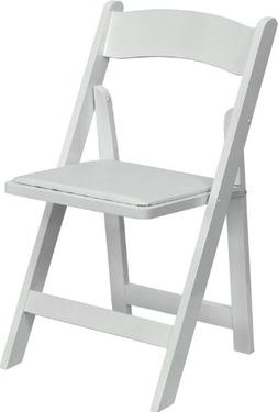 Flash Furniture HERCULES Series White Wood Folding Chair wit