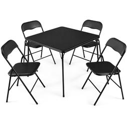 Home Kitchen Dining Table Chair Set 5 Piece Furniture Solid