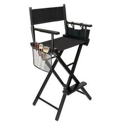 Hot Directors Chair 30 Inch Canvas Tall Seat Black Wood Make