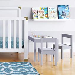 Baby Relax Hunter 3 Piece Kiddy Table and 2 Chairs Set - Gra