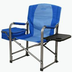 Kamp-Rite Director's Camping Folding Chair w/ Side Table & C