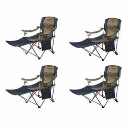 Kamp-Rite Folding Tailgating Camping Chair with Detachable F