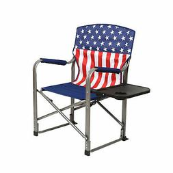 Kamp-Rite Outdoor Tailgating Folding Directors Chair with Si