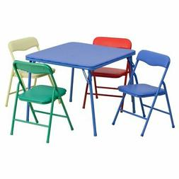 Flash Furniture Kids Colorful Folding Table and 4 Chairs