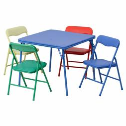 Flash Furniture Kids Colorful 5 Piece Folding Table & Chair