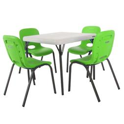 Lifetime Kids Table with 4 Lime Chairs Superior strength and