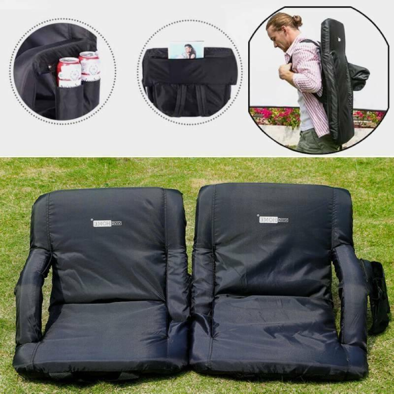1 2pcs folding stadium seat chair cushion