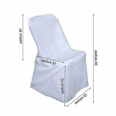 10 White LIFETIME FOLDING CHAIR COVERS Wedding Party Discounted