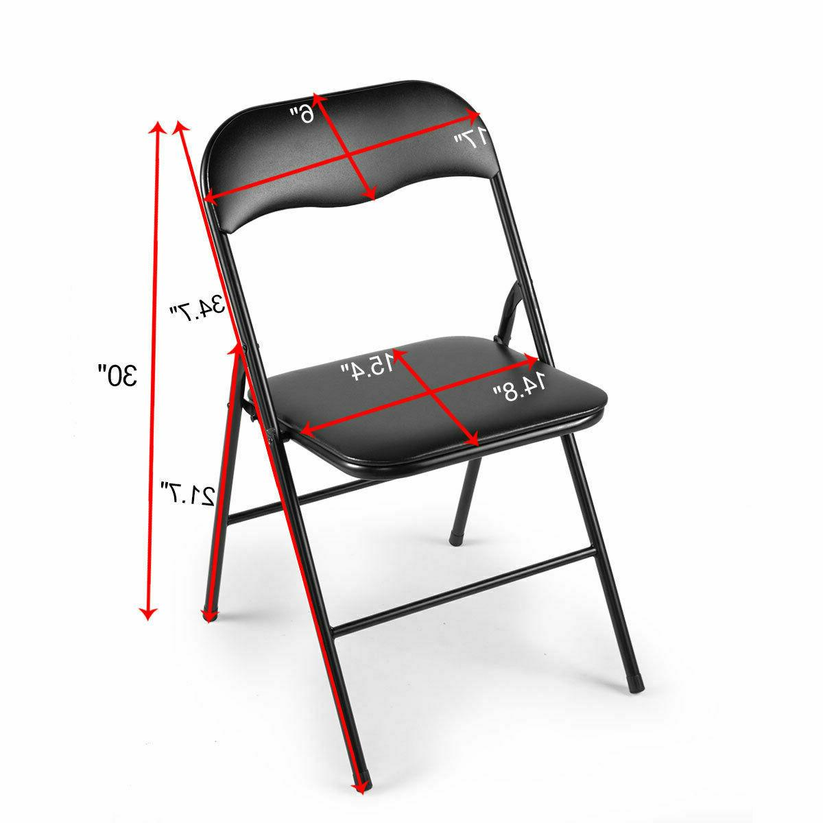 Commercial Black Folding Chairs 4/5/6 Party