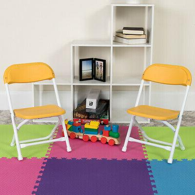 2 pack kids plastic folding chair daycare