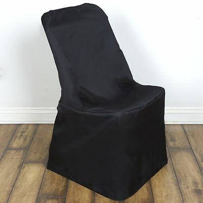 10 Black LIFETIME FOLDING CHAIR COVERS Wedding Party Discoun