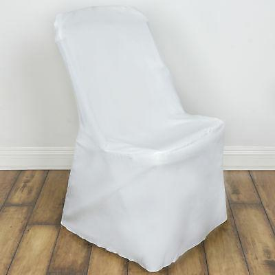 25 Ivory LIFETIME FOLDING CHAIR COVERS Wedding Party Discoun