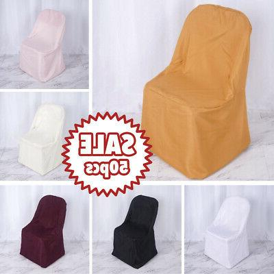 25 polyester folding chair covers wedding banquet