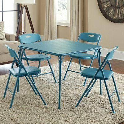 34 in square table and chair set