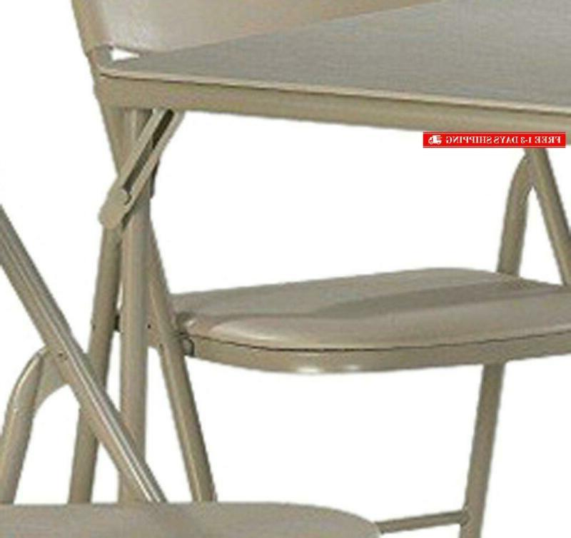 Cosco 5-Piece Folding Table And Chair Antique