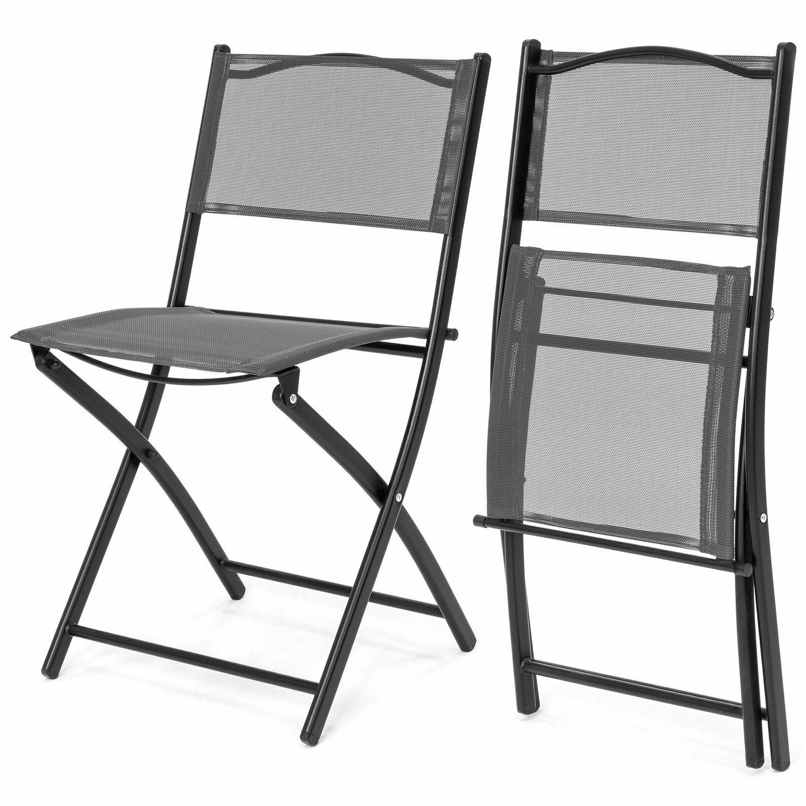 3PCS Bistro Dining Glass Folding Chairs
