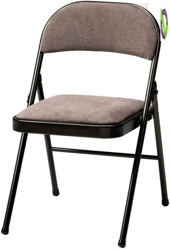 4 pack deluxe fabric padded folding chair