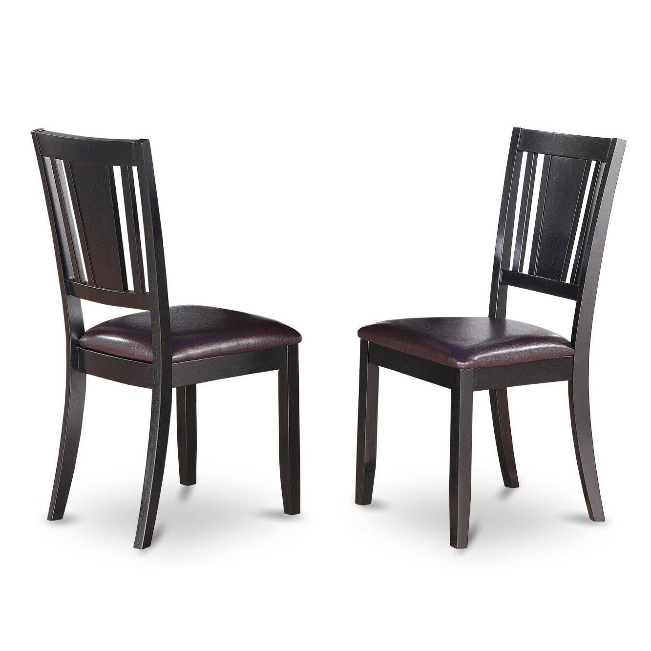 5pc Kitchen Dining Table 4 Seat Chairs Black