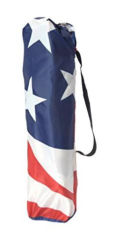 Quik Shade Adjustable Folding Shade American Flag