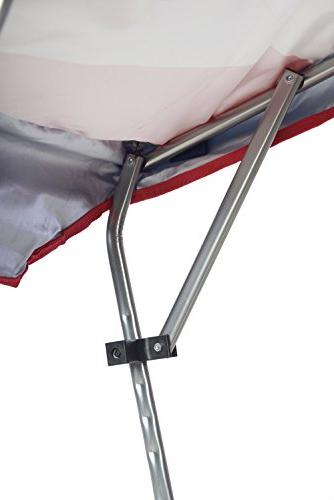 Quik Adjustable Canopy Folding Chair, Flag
