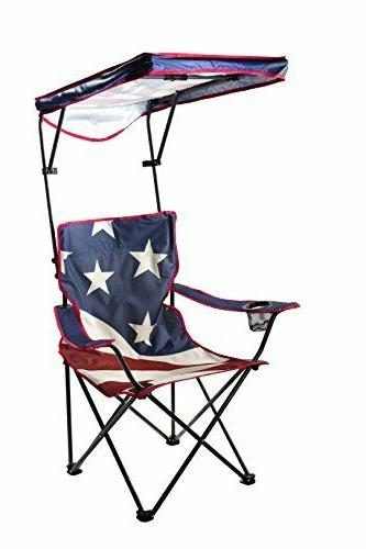 adjustable canopy folding camp chair