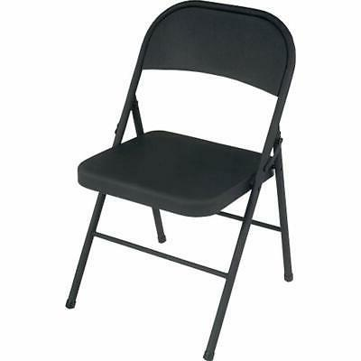 all steel folding chairs black 4 pack