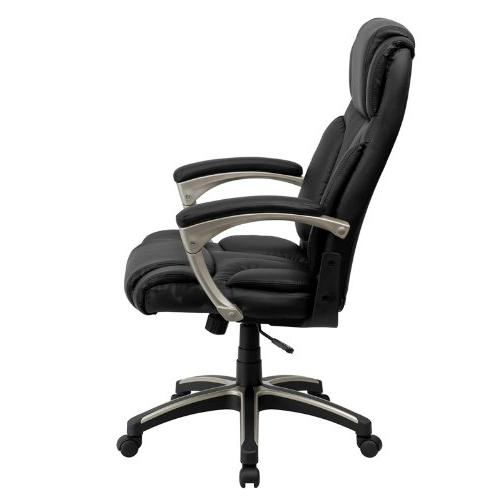 Flash Back Folding Black Leather Swivel Chair with