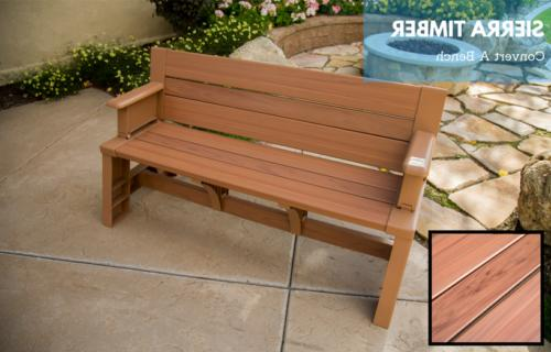 Bench Converts Picnic Table Resin Plastic Small Patio Conver