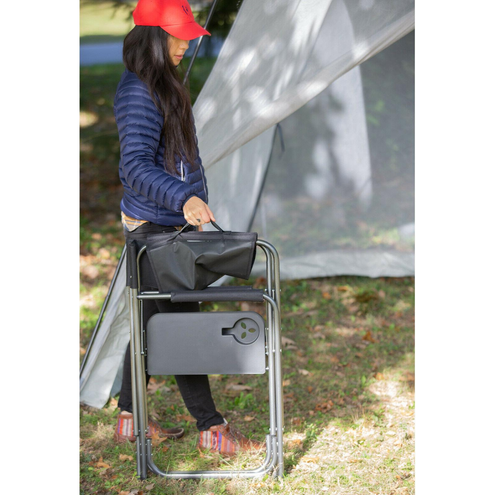 Camping Folding Chair Outdoor Table Cup Holder 400lbs