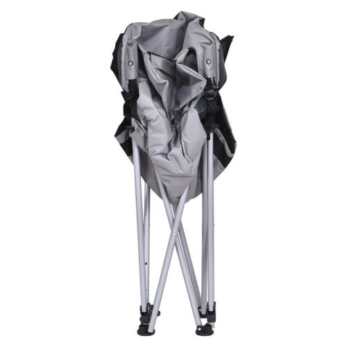 Chair Folding Portable Outdoor Cup Holder Case Gray