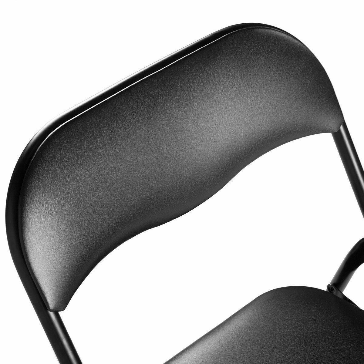 Commercial Black Folding Chairs 4/5/6 PCS Wedding Party Banquet Seat Set