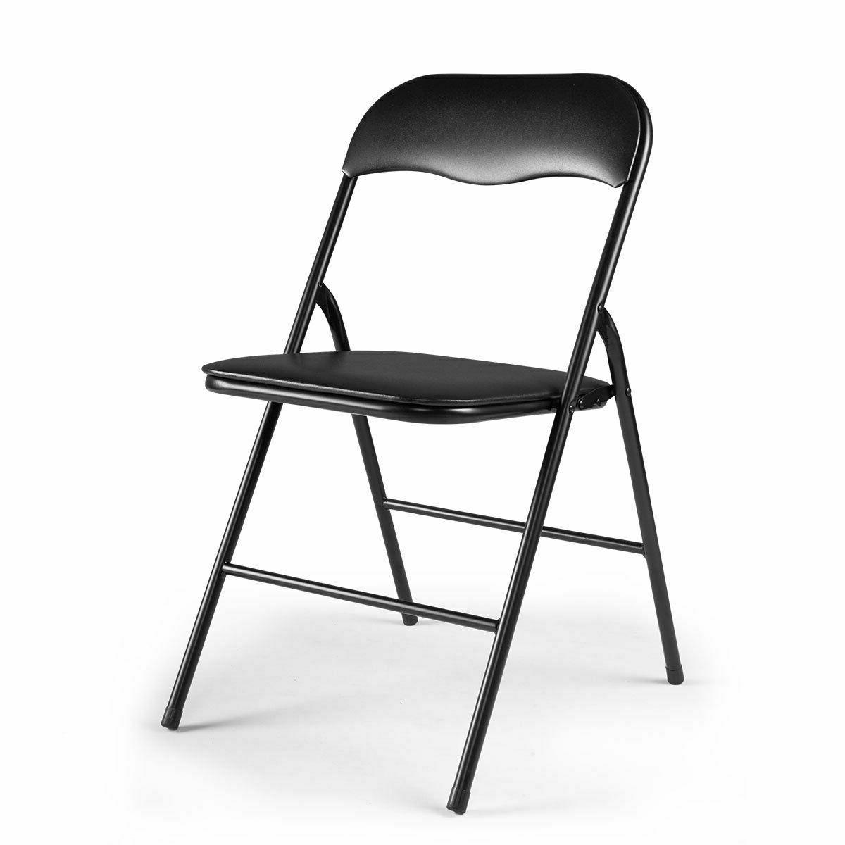 Commercial Black Folding Chairs 4/5/6 PCS Party