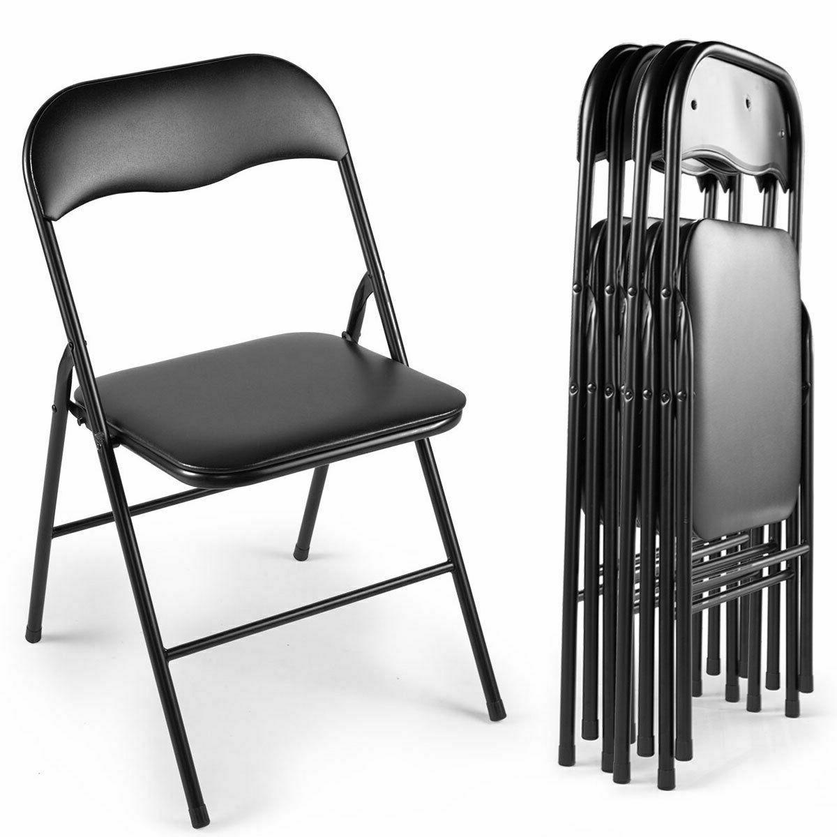 commercial black plastic folding chairs 4 5