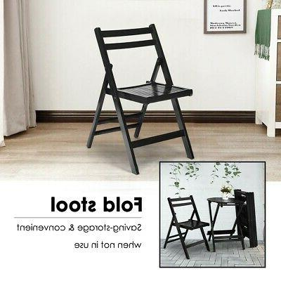 Dining Folding Chairs Solid Home Kitchen Living