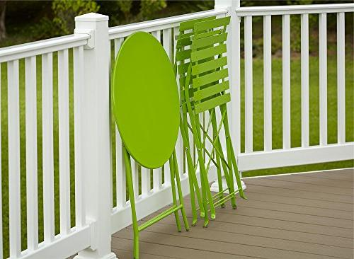 Cosco Folding Patio and Chair, Bright Green