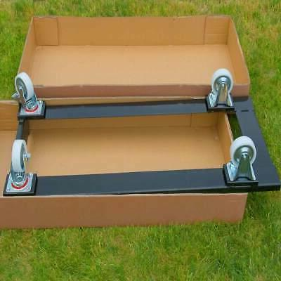 Folding Cart Dolly Black Steel Storage Capacity 50 Chairs