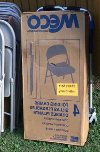 folding chair set of 4 new in