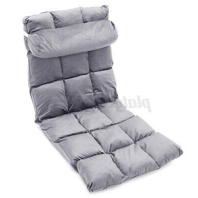 Folding Lazy Adjustable 5-Position Floor Gaming Cushion Couch Recline