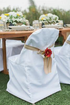 folding polyester chair covers wedding party banquet