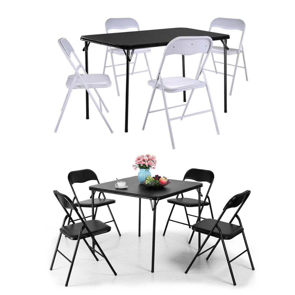 folding portable table and chairs set outdoor