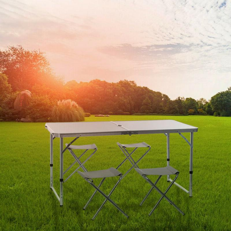 Folding Table Indoor Outdoor Camping +Chair