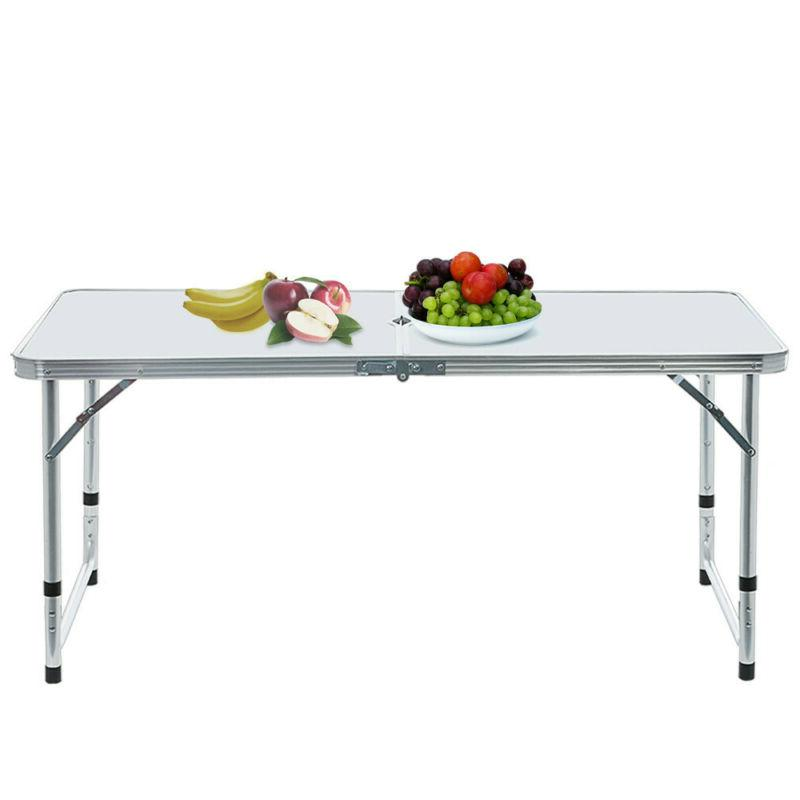 Folding Table Portable Plastic Indoor Outdoor Picnic Camping Tables +Chair