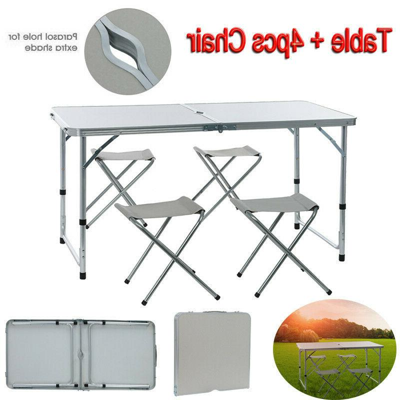 folding table portable plastic indoor outdoor picnic