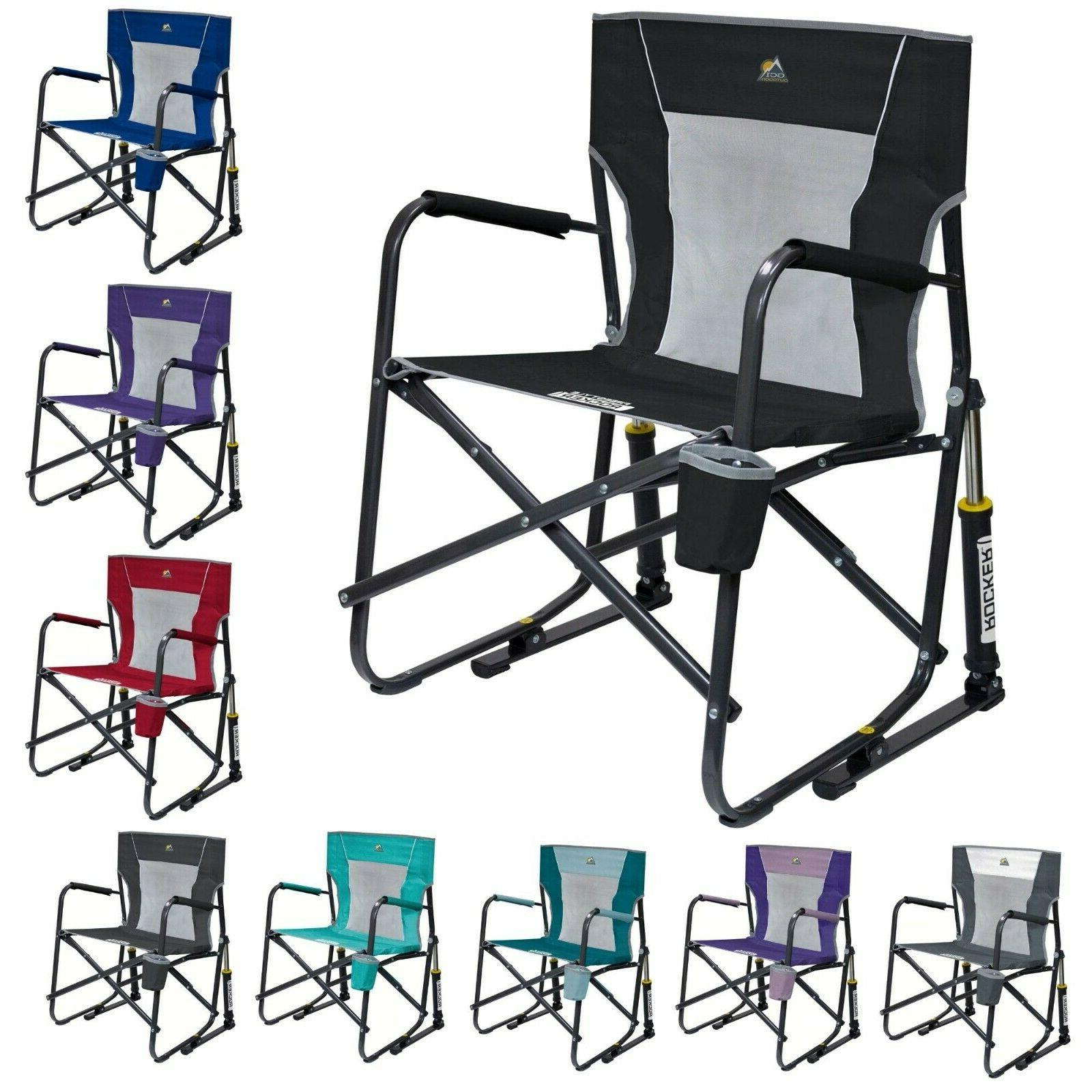 freestyle rocker mesh chair folding portable camping