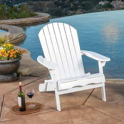 hanlee outdoor folding wood adirondack chair by