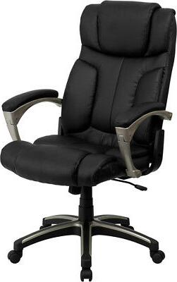 Black Leather High Back Folding Home Office Desk Task Chair