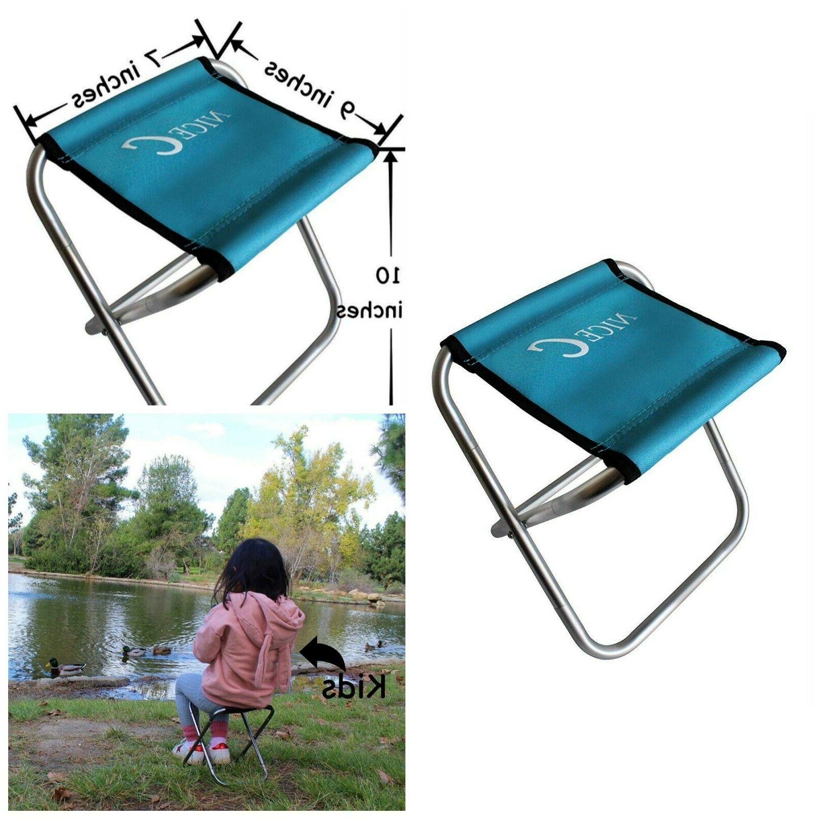 Kids Portable Folding Stool Outdoor Chair Picnic Travel Beac