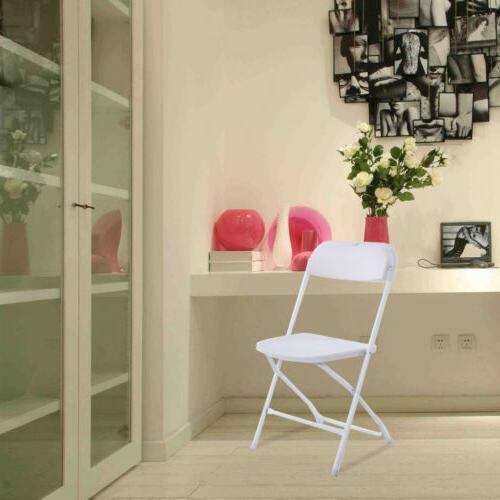 New White Plastic Folding Chairs Party